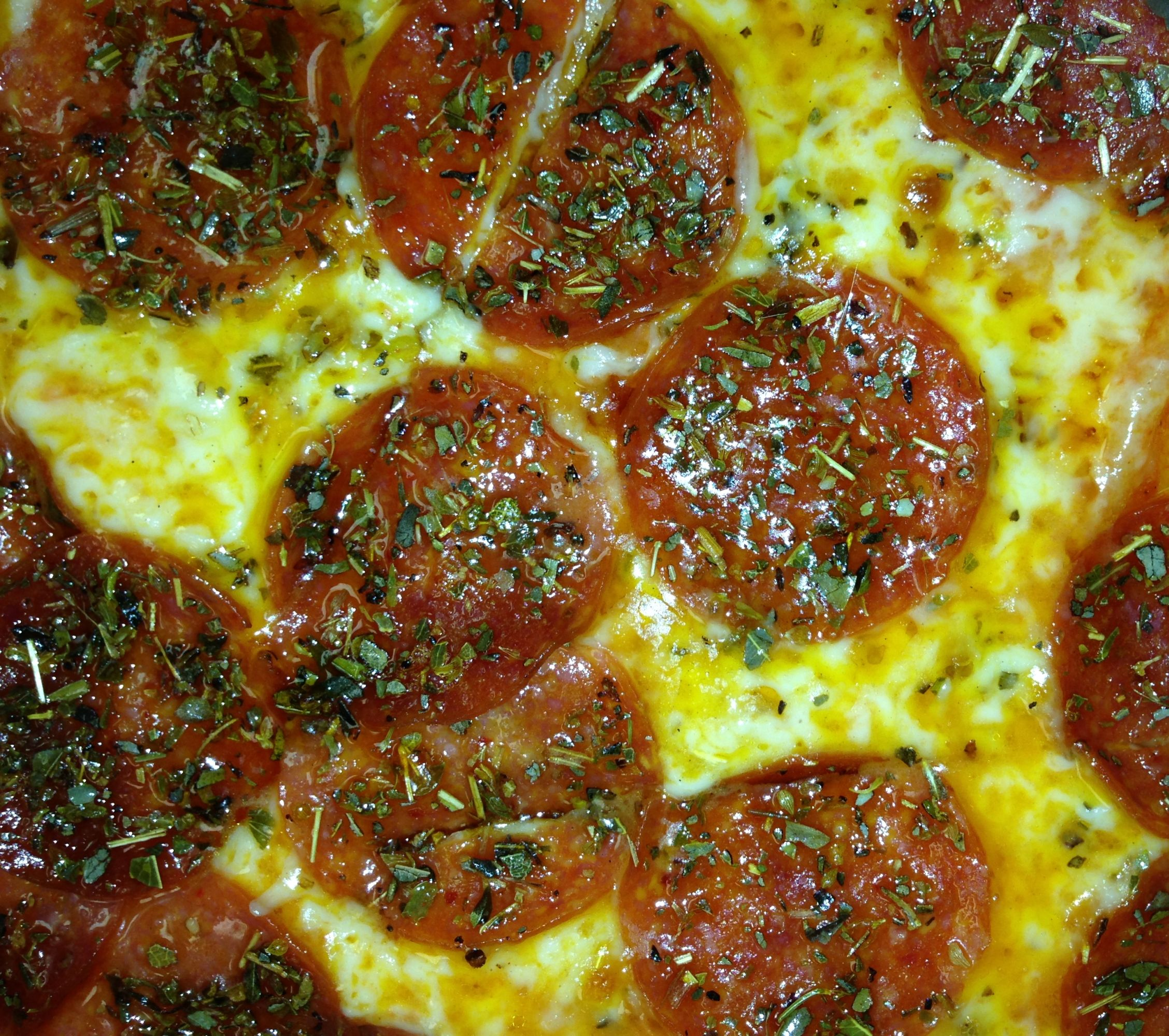 Fricanos_Zoomed in Double Pepperoni, Extra Bird Seed Pizza.jpg